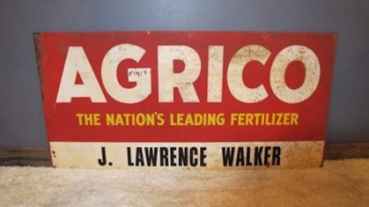 169. Vintage Farm Fertilizer  Sign