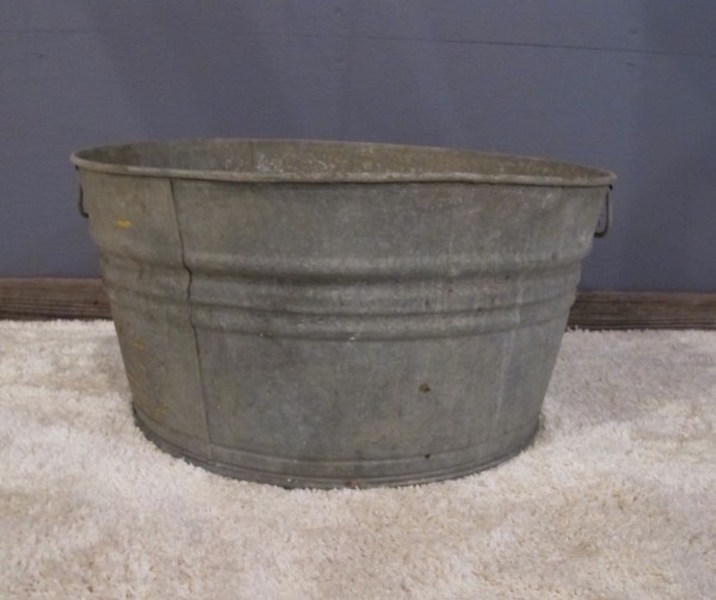10. Two Galvanized Metal Tubs