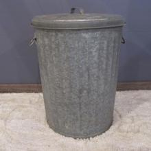 12. Galvanized Trash Can