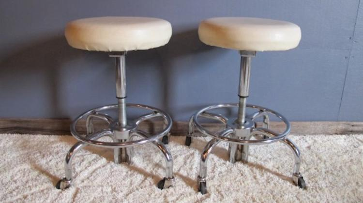 109. Machine Age Rolling Stools