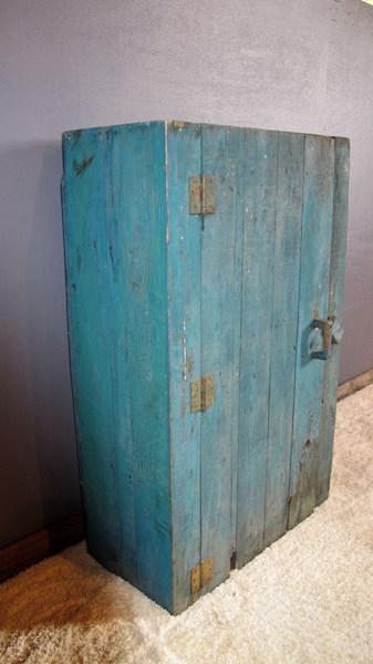 112. Primitive One Door Tool Cabinet