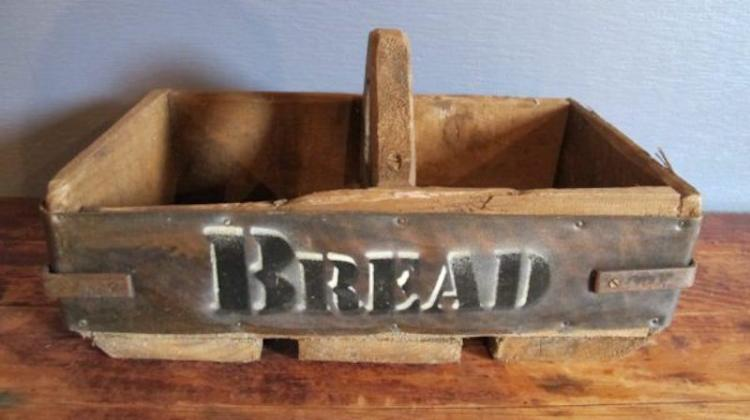 113. Primitive Hand Crafted Bread Box