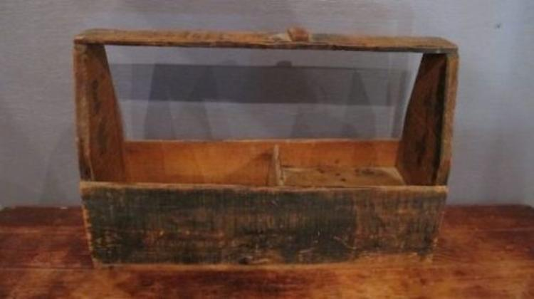 118. Primitive Hand Crafted Tool Box