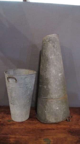 125. Two Tapered Galvanized Buckets
