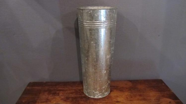 126. Galvanized Long Stem Floral Bucket