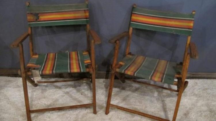 127. Pair of 1940's/50's Beach Chairs