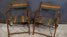 127. Pair of 1940's/50's Beach Chairs