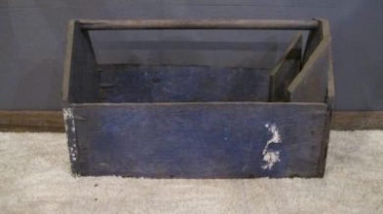137. Primitive Carpenter's Tool Tote