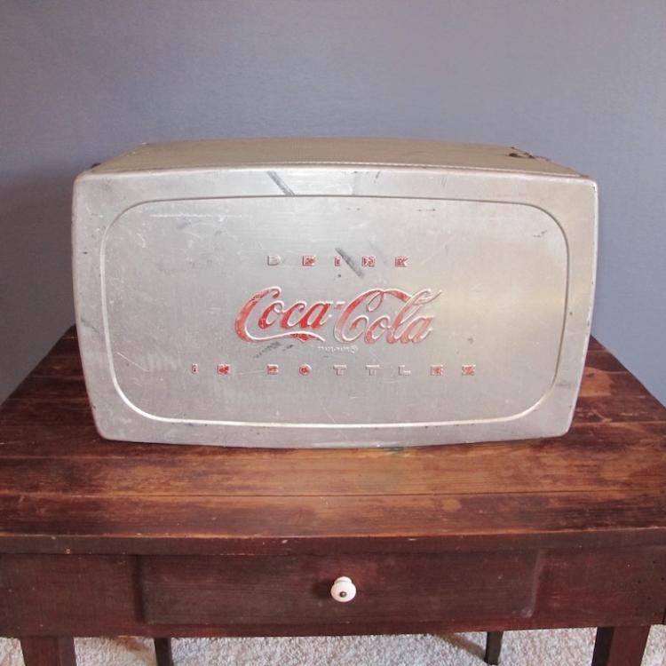 31. 50s Aluminum Coca-Cola Cooler
