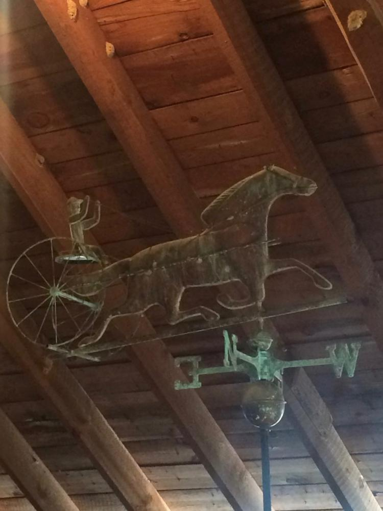 289. Copper Horse & Buggy Weathervane