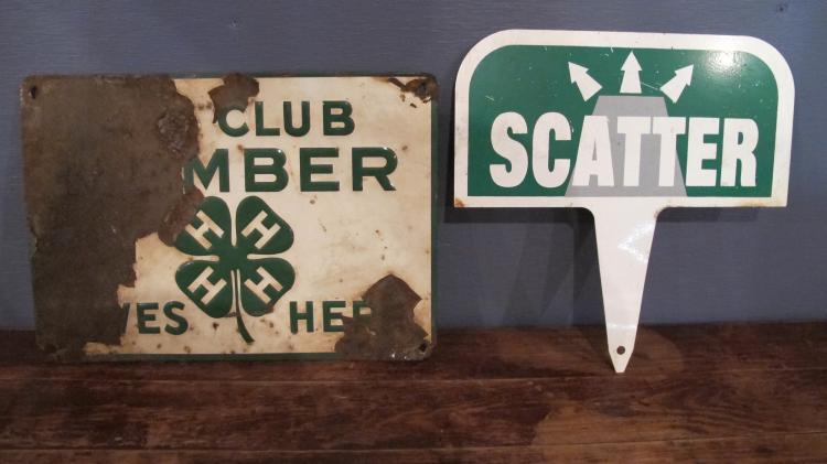 207. Two Vintage Signs - 4H and