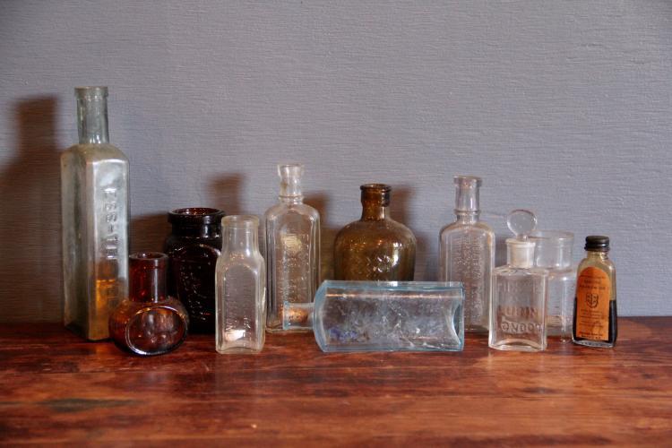 248. 11 Vintage Medicinal Bottles