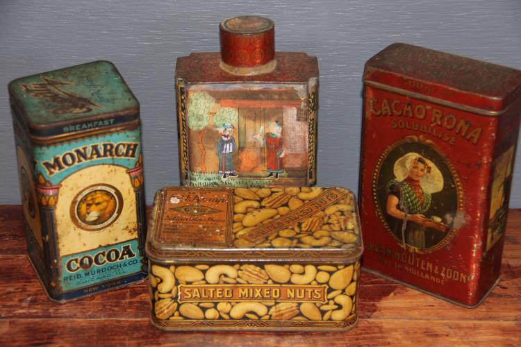 249. Lot of Four Vintage Advertising Tins