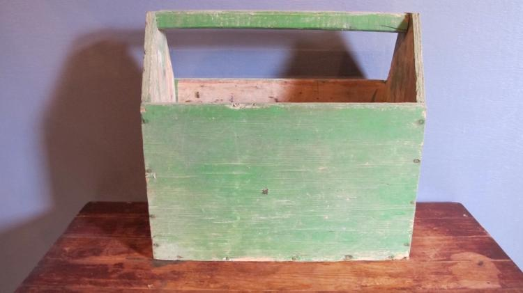 137. Primitive Carpenter's Tool Tote
