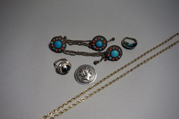 Bijoux Fantaisie Super U : J lot de bijoux fantaisie on y joint une broche en argent p
