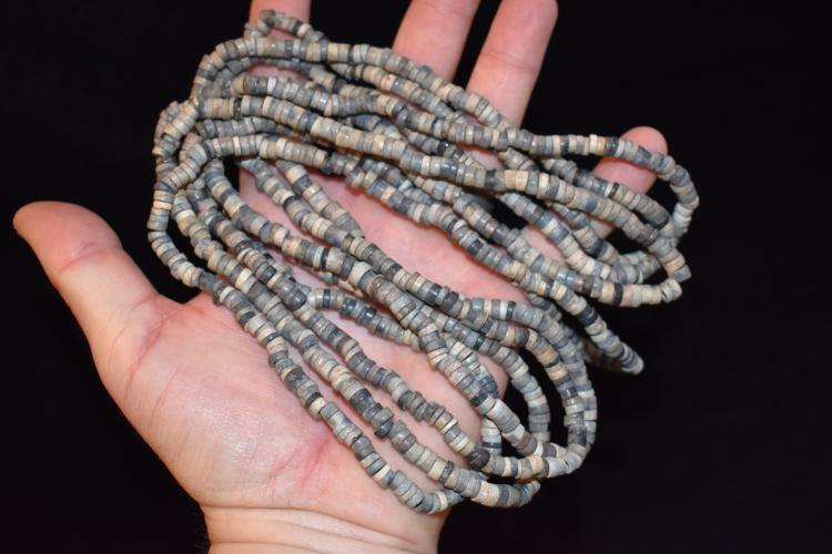 8 Foot Strand Of Steiatite Beads Found In Nicholas Mound Sa