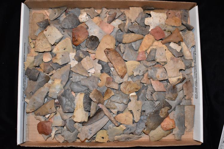 """13x16"""" Flat of Arrowheads, Lyman Hussey Collection"""