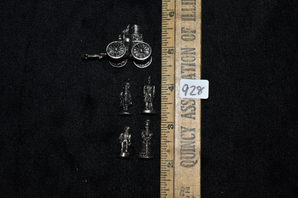Americana Pewter Collection 5 Piece Set of Mini Figurines To
