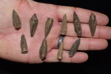 Lot of Bronzed Copper Arrowheads, China / Roman