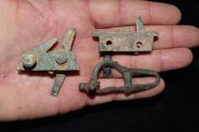 Lot of Bronzed Copper Crossbow Parts, Roman