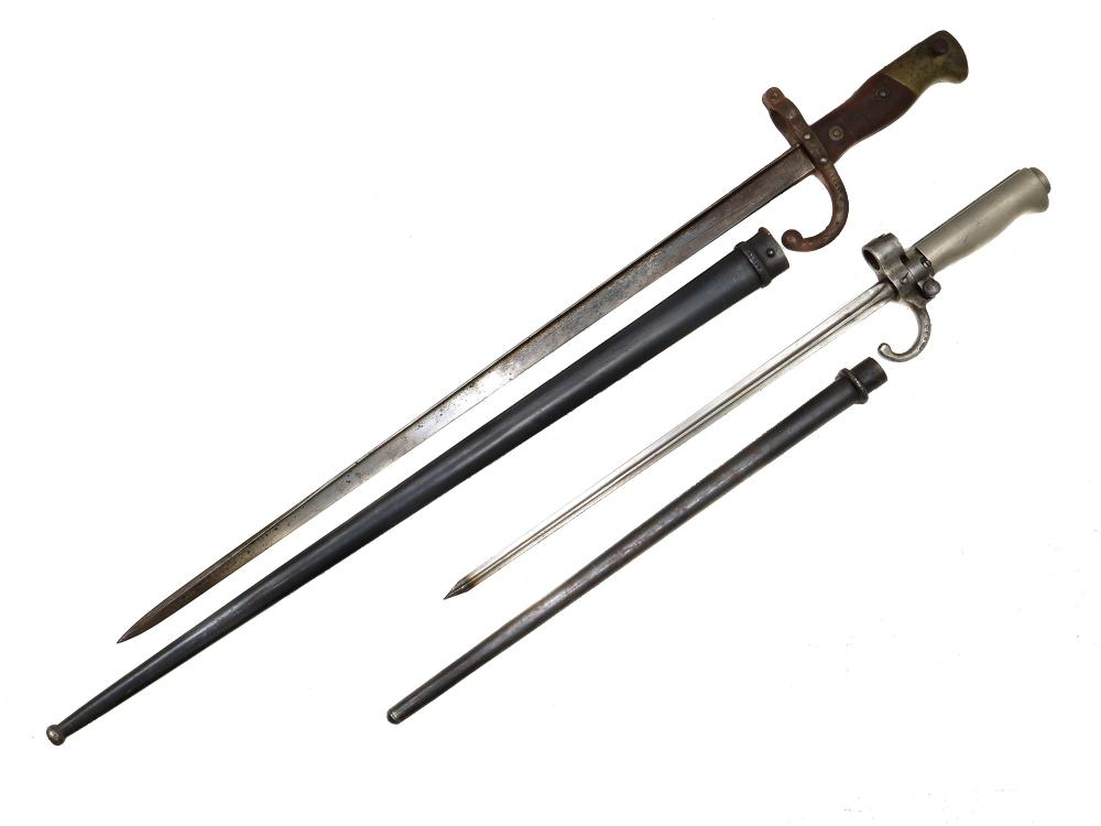 A LOT OF TWO FRENCH BAYONETS, 19TH CEN.