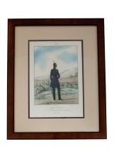 LITHOGRAPH: FIELD OFFICER OF LIFEGUARD DRAGOON REGIMENT, 1845 - 1848