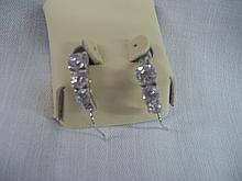 3 Stone Fashion Diamond Earrings