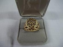Large Mens Fillagree GEP Ring