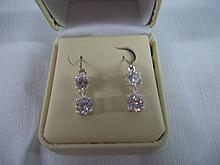Ladies 2 Stone Fashion Diamond Earrings