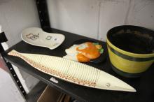 20th cent. Ceramics: Retro items - fish serving dish, Ceramics Portrush, gr