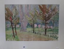 Ellis Family Archive: Rosemary Ellis 1910-1998, watercolour on paper, cherr
