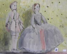Ellis Family Archive: Rosemary Ellis 1910-1998, watercolour heightened with