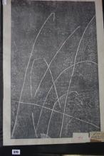 Ellis Family Archive: Hideo Hagivara 1913-, Space D, Japanese woodcut with