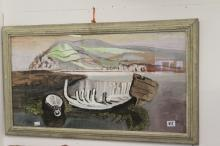 Ellis Family Archive: Clifford Ellis 1907-1985, Old Boat, gouache and water