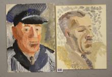Ellis Family Archive: Clifford Ellis 1907-1985 watercolour of a gentleman t
