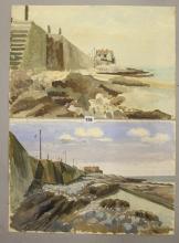 Ellis Family Archive: Clifford Ellis 1907-1985 Oil on paper 'Beach Study',