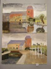 Ellis Family Archive: Rosemary Ellis 1910-1998, watercolour on card paper o