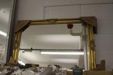 20th cent. Gilt framed bevel edge hall mirror. 36ins x 23ins.