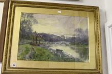 Henry Charles Fox 1860-1929, watercolour