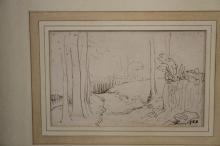 Ellis Family Archive: Clifford Ellis 1907-1985, pencil and watercolour sket