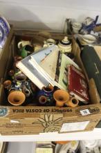 Devon Ware: Udder vases, tobacco jar, vases, cups, candles holders, condiments, etc