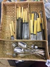 19th & 20th cent. Flatware: Mostly knives and spoons.