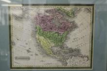 Maps: Interesting pre America/Mexico war coloured map of the United States