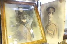 WW1: Private R.J. Reynolds Wiltshire Regiment 14-18 medal, a coloured studi