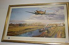 Military prints: Stephen Brown 1941, WW1 RAF Spitf