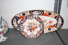 Late 19th early 20th cent. Imari oval serving dish. 23ins. x 10ins. Plus a