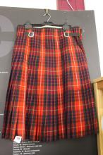 Military: Fraser Clan Tartan Officer's no.2 dress kilt C1962 belonging to M
