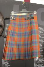 Military: Fraser Clan Tartan kilt mess dress kilt C1958 belonging to Major
