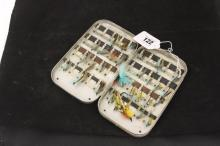 Fly fishing accessories - Hardy Bros. Alnwick anodised metal fly box with 4