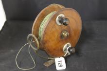 Fishing Accessories - Hardy Bros. Alnwick wood & brass Megstone fishing ree